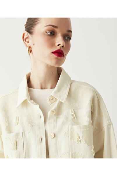 İpekyol Nakış Detaylı Gömlek Ceket