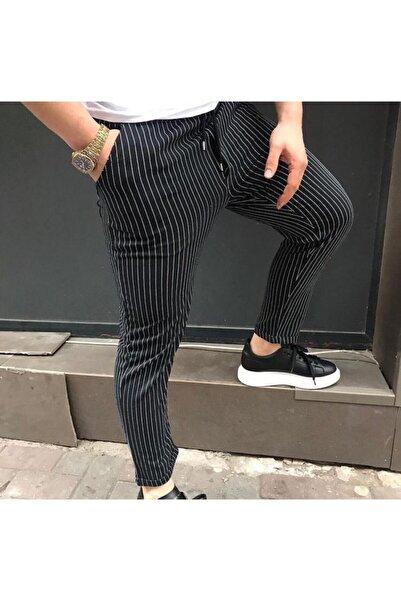 Podyum Çizgili Jogger Beli Lastikli Pantolon