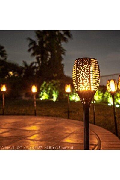 SOLAR ONE 96 Led Alev Efektli Solar Lamba Dekoratif Bahçe Aydınlatma Meşale