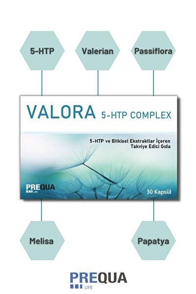 PREQUALIFE Valora 5-htp Complex 30 Kapsül - 5-htp, Kediotu, Passiflora, Melisa, Papatya, Magnezyum