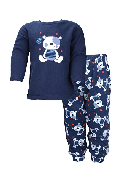 moto angela Erkek Bebek Pijama Takımı Cute Teddy 0- 4 Yaş