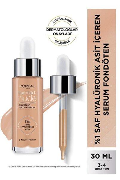 L'Oreal Paris L'oréal Paris True Match Nude Serum Fondöten 3-4 Light Medium