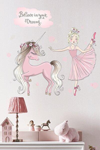 Kt Grup Balerin Ve Unicorn Çocuk Odası Sticker