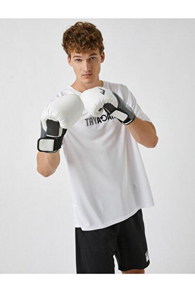Koton Erkek Beyaz Baskılı Spor T-Shirt