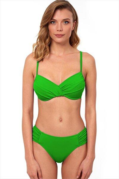 AYYILDIZ Kadın Yeşil Toparlayıcı Bikini Takımı 40705