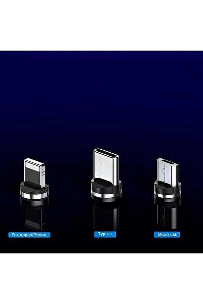 MEHMET OYGUR Oppo Uyumlu Cep Telefonu 3in1 Mıknatıslı Hızlı Şarj Kablosu Şarz Aleti Kablosu Mıknatıslışarzkablo