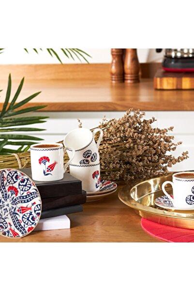 Karaca Hasbahçe 6 Kişilik Kahve Fincanı Takımı