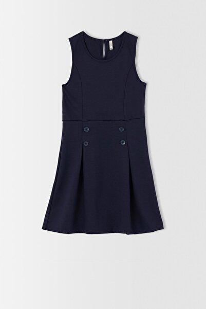 DeFacto Kız Çocuk Pili Detaylı Kolsuz Elbise