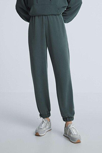 Oysho Kadın Koyu Mavi Yumuşak Dokulu Modal Jogger Pantolon 31239788
