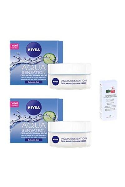 Nivea Aqua Sensation Salatalık Özlü Canlandırıcı Bak. Kremi 50 Ml X 2 Sebamed Mini Yüz Ve Vücut Los. 20 Ml