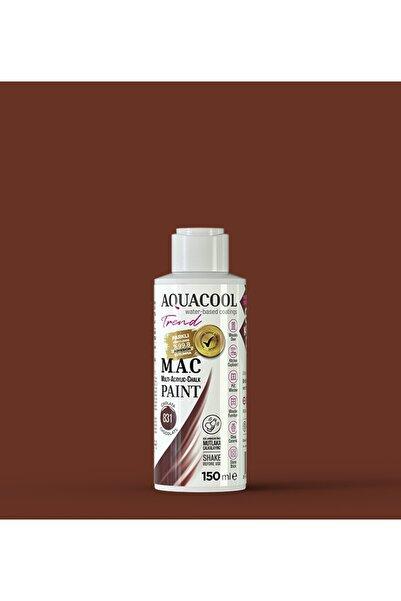 Aquacool Trend M.a.c Su Bazlı Akrilik Hobi Boyası 831 Çikolata 150 Ml