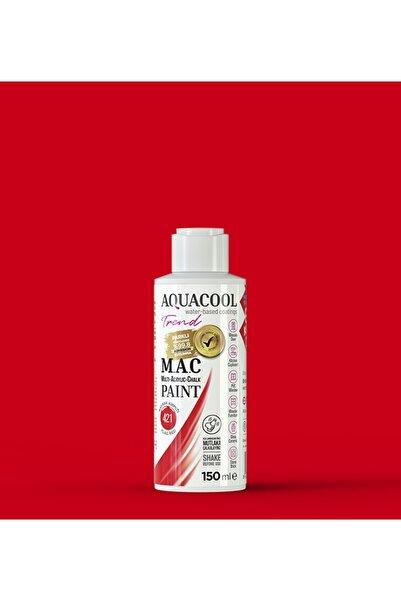 Aquacool Trend M.a.c Su Bazlı Akrilik Hobi Boyası 421 Bayrak Kırmızı 150 Ml