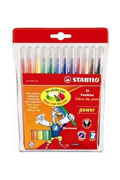 Stabilo Power Keçeli Kalem 12 Renk