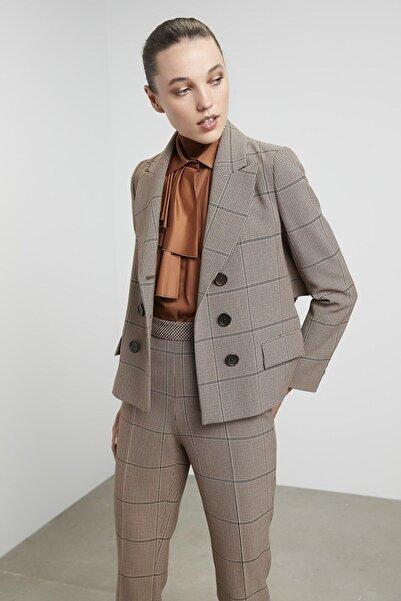 Machka Kazayağı Desen Ceket