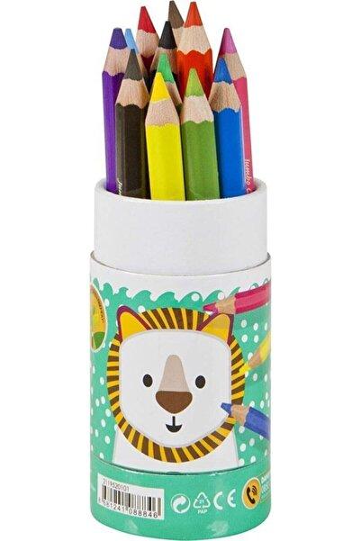Adel 12 Renk Jumbo Kuru Boya Kalemi Yarım Boy Karton Tüp