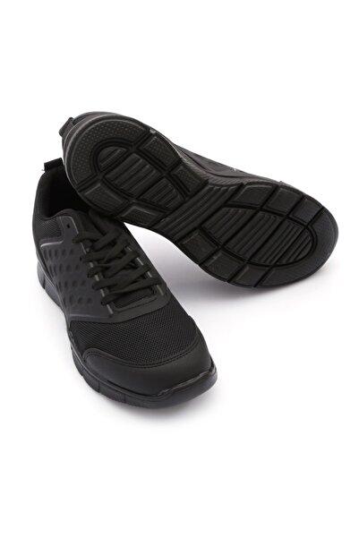 Rock & Roll Siyaha Siyah Hafif Kaymaz Tabanlı Erkek Spor Ayakkabı