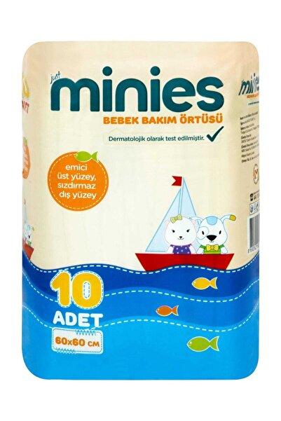 Minies Bebek Bakım Örtüsü 60X60 Cm 10 Adet