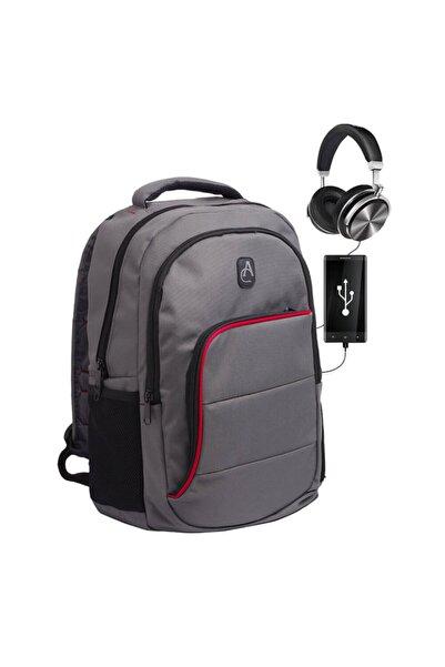 Albastar ProTech 3 Akıllı Sırt Çantası - Smart Bag GRİ