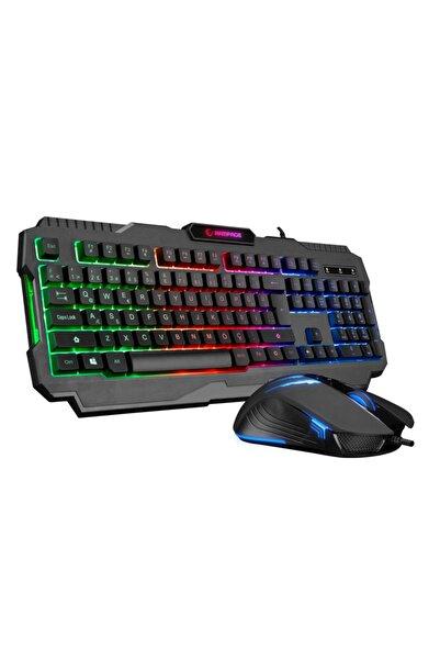 Rampage Km-rx5 Scorpy Seri Gökkuşağı Aydınlatmalı Usb Oyuncu Klavye Ve Mouse Tam Türkçe Gaming Combo