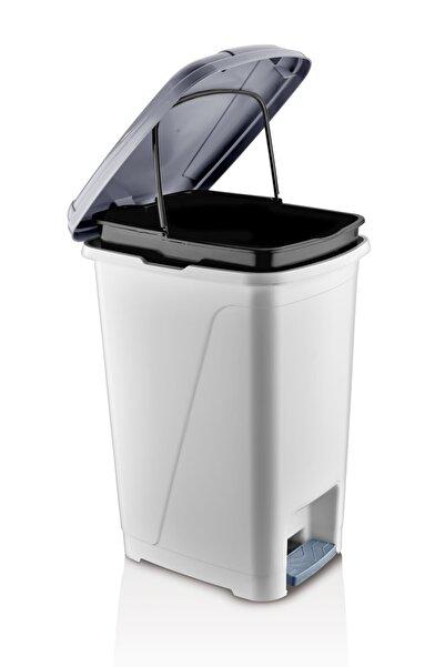 ASlife Iç Kovalı Pedallı Çöp Kovası 25 Litre Beyaz