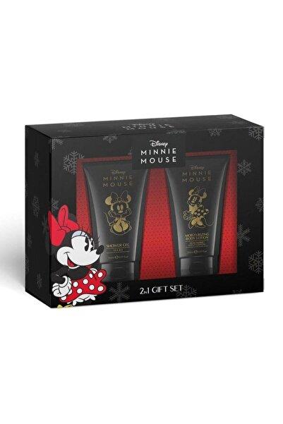 Disney Mickey Mouse Disney Minnie Mouse 2'li Kofre Set Vücüt Losyonu Ve Duş Jeli