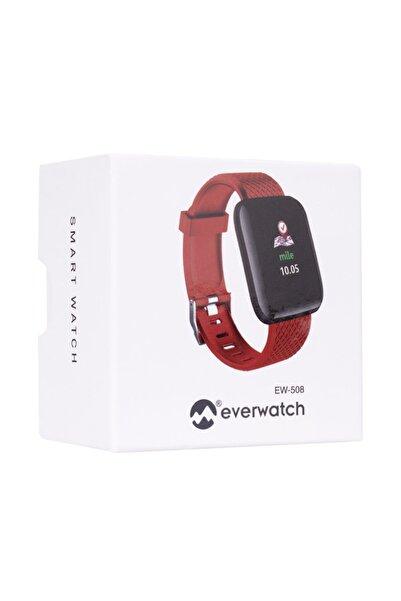 Everest Ever Watch Ew-508 Android/ıos Smart Watch Kalp Atışı Sensörlü Kırmızı Akıllı Saat