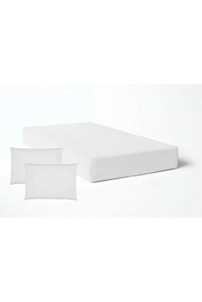 Beyaz Lastikli Çarşaf Takımı -8 Ebat -Çift Kişilik - Tek Kişilik Nevresim Kumaşı