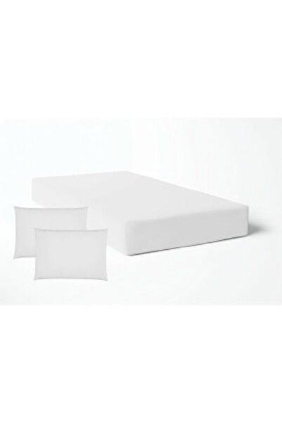 Şahinhome Beyaz Lastikli Çarşaf Takımı -8 Ebat -Çift Kişilik - Tek Kişilik Nevresim Kumaşı