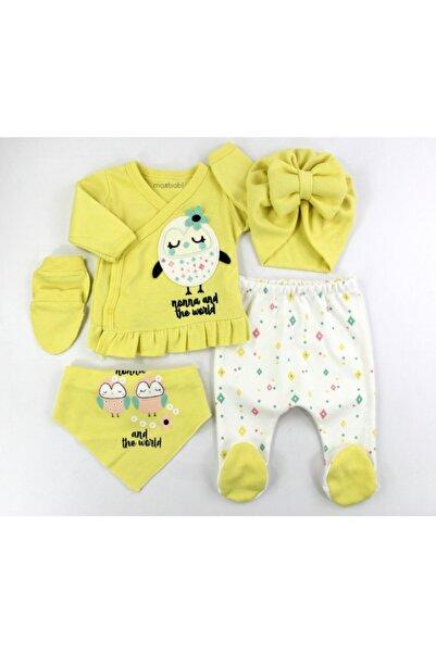 VERONA TARZ Baykuş Kız Bebek 5li Hastane Çıkış Seti Yenidoğan Kıyafeti