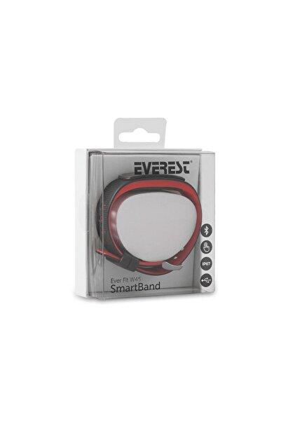 Everest Ever Fit W45 Android/ıos Full Dokunmatik Renkli Ekran Kırmızı/siyah Akıllı Bileklik - Saat