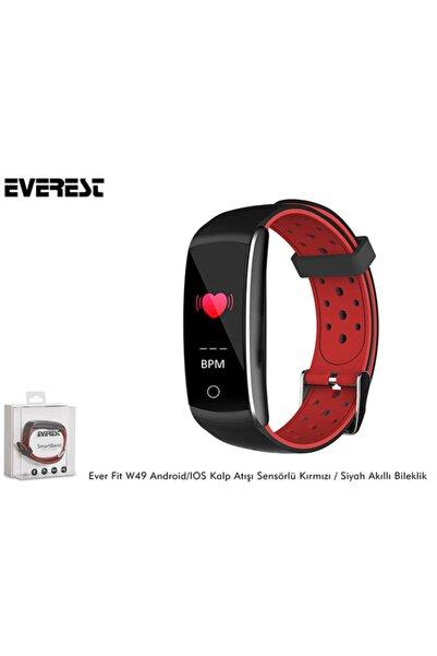 Everest Ever Fit W49 Android/ıos Smart Kalp Atışı Sensörlü Kırmızı/siyah Akıllı Bileklik - Saat
