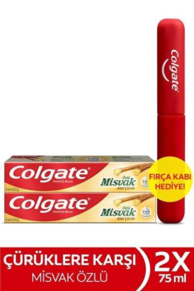 Colgate Misvak Diş Macunu 75 ml X 2 Adet + Fırça Kabı