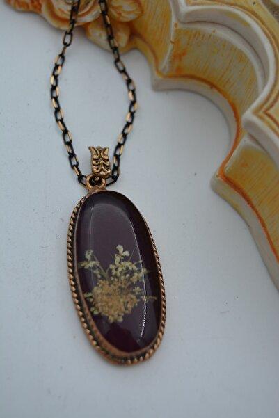 Stoneage Jewellery Gerçek Kuru Çiçek Yaşayan Kolye