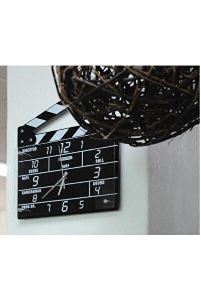Skygo Clapperboard Clock Analog Klaket Duvar Saati