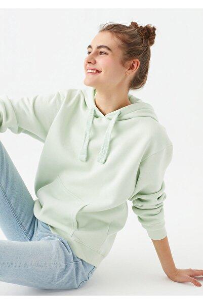 Mavi Kapüşonlu Yeşil Sweatshirt 167299-34126