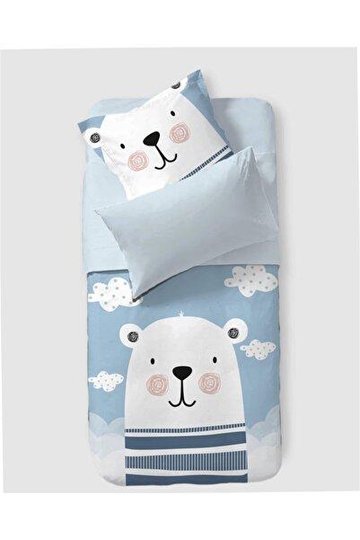 Firuze %100 Pamuklu Bebek Nevresim Takımı Polar Bear