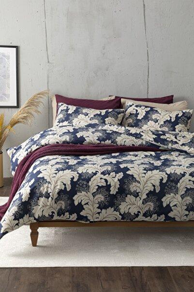 English Home Chic Morris Pamuk King Size Nevresim Takımı 240x220 Cm Lacivert