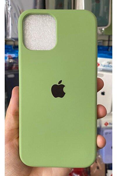 Go Aksesuar Iphone 12 / 12 Pro Logolu Açık Yeşil Içi Kadife Aa Kalite Lansman