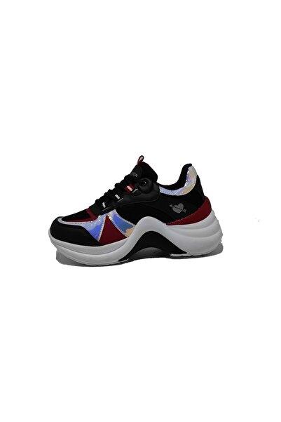 Twingo Kadın Siyah Kırmızı Spor Ayakkabı - Siyah - 36