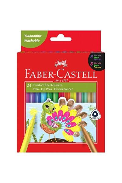 Faber Castell 24'lü Comfort Keçeli Kalem 6 Neon 6 Metalik 12 Klasik