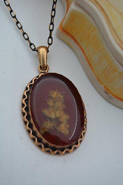 Stoneage Jewellery Gerçek Çiçek Kolye