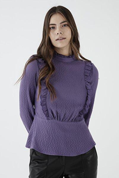 Chima Fırfır Detaylı Arkası Kuşaklı Bluz