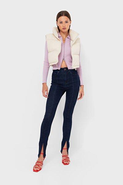 Stradivarius Yırtmaçlı Paça Skinny Jean