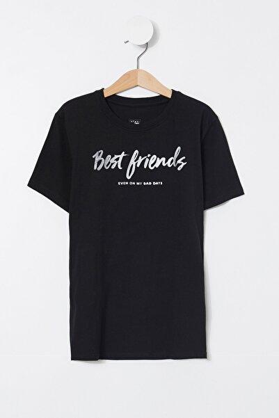 DeFacto Erkek Çocuk Best Friends Yazılı Kısa Kollu Tişört