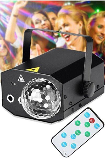 firsatgeldi Sihirli Disko Topu 16 In 1 Kumandalı Lazer Işık Küresi Dj Aydınlatma