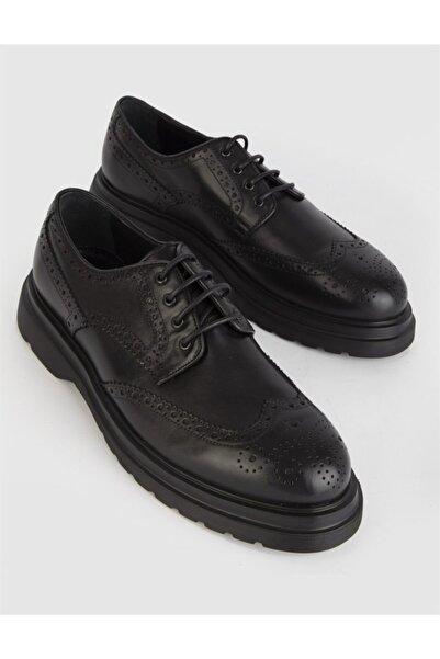 İLVİ Lunt Hakiki Deri Erkek Siyah Günlük Ayakkabı