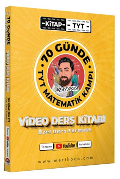 A Yayınları Mert Hoca 70 Günde Tyt Matematik Kampı Video Ders Kitabı
