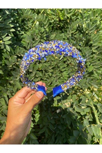 N.AK Kadın Mavi Taşlı Taç Saç Bandı
