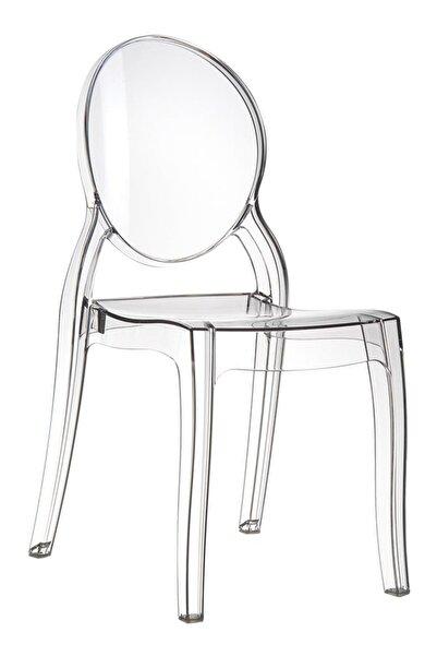Siesta Elizabeth Lüx Sandalye Balkon Bahçe Sandalyesi Mobilyası Şeffaf Transparan