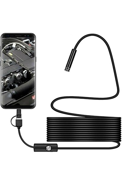 S Store Endoskopik Yılan Kamera 10 mt Pro Sert Kablo
